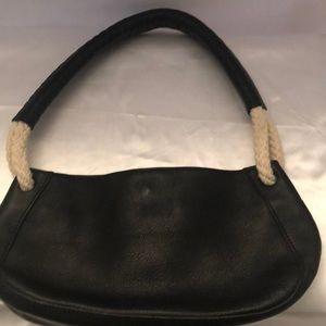 Furla black leather small bag